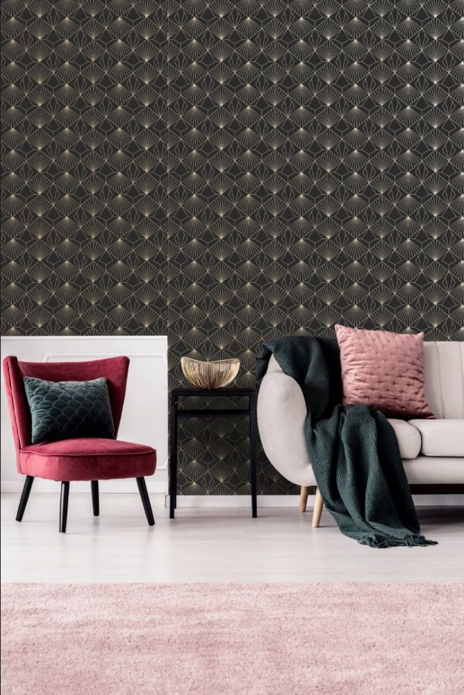 Graham and Brown Diamond Black 105978 Wallpaper PB